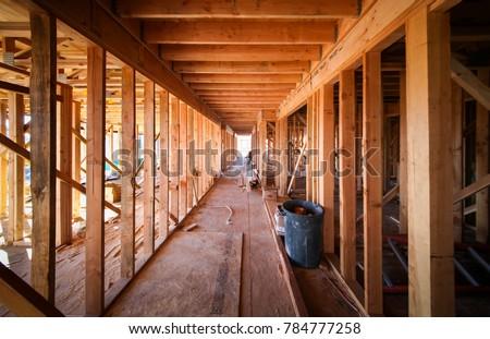 Wood Framing Work Progress Wood Framing Stock Photo & Image (Royalty ...