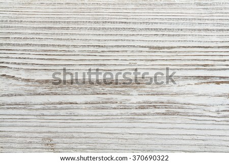 Wood Grain Texture, White Wooden Plank Background - stock photo