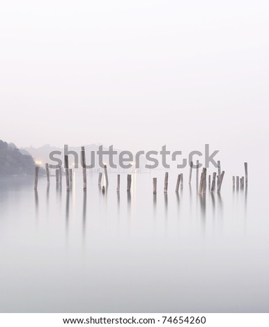 wood in water - stock photo