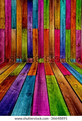 Wood Interior Design - stock photo
