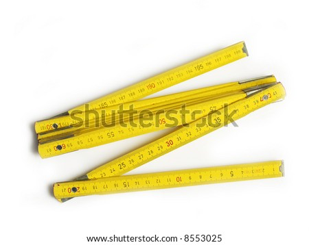 Wood meter isolated on white - stock photo