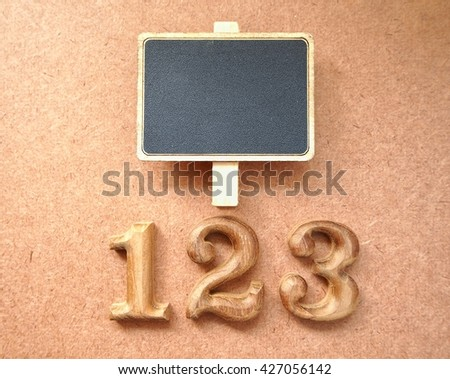 wood number and board