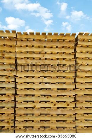 wood pallet - stock photo