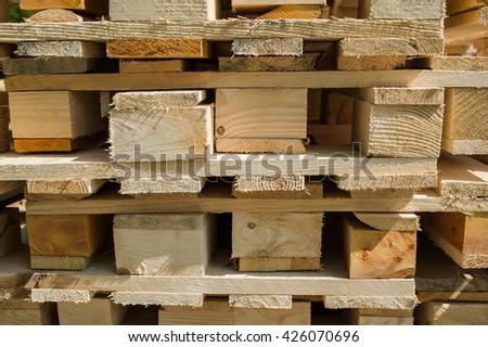 wood pallets - stock photo