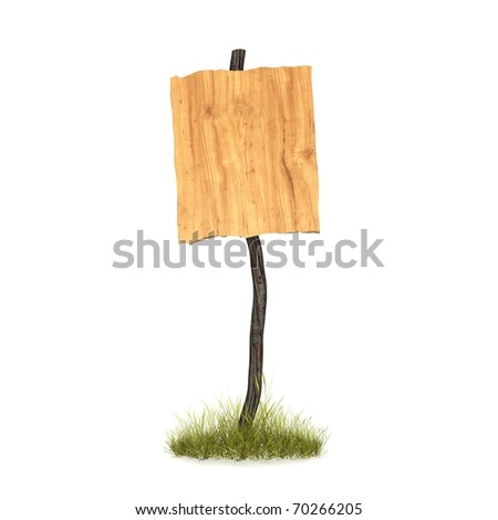 wood pannel with many directions - stock photo