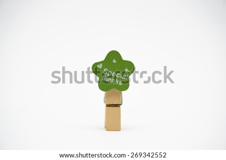 "Wood paperclip with the words ""Special Thanks"" - stock photo"
