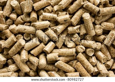 Wood Pellets - stock photo