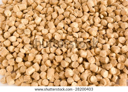 Wood Pellets background. An alternative way to produce energy. - stock photo