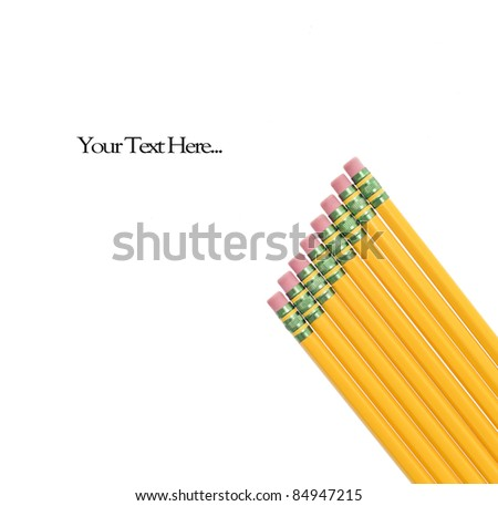 Wood Pencils On White - stock photo