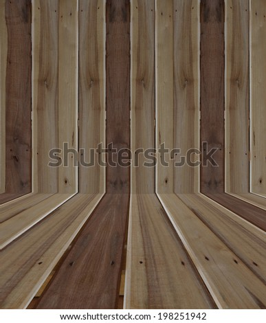 Wood perspective texture background wall