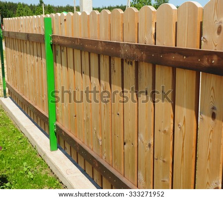 Wood picket fence details. Traditionally picket fences were made out of wood and painted white (or whitewashed), but now picket fences are also widely available in polyvinyl chloride.