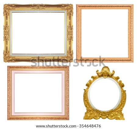 wood picture frame isolated on a white background.