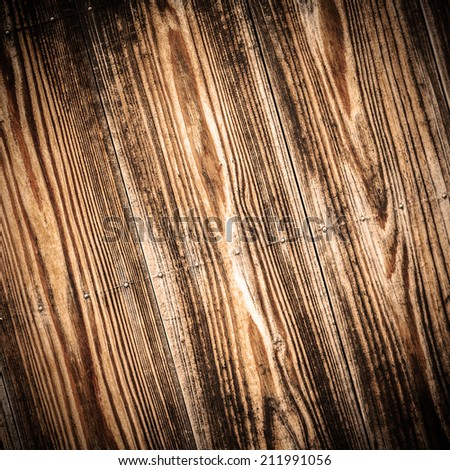 Wood plank background and texture retro version - stock photo