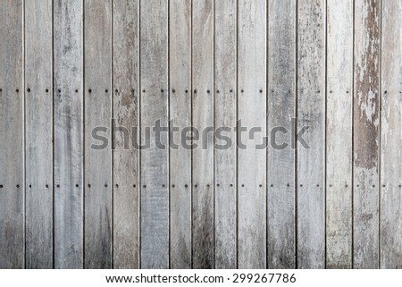 Wood plank vertical texture background, old vintage style for design - stock photo