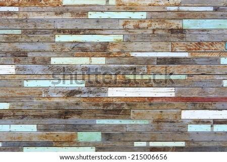 wood plank wall / wood wall background - stock photo