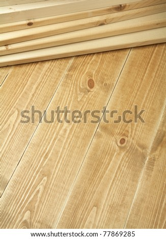 Wood planks on wooden floor