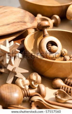 wood products - stock photo