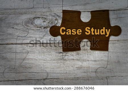 Wood Puzzle: Case Study - stock photo