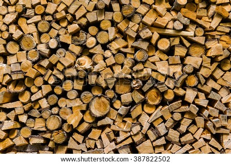 Wood ready to be burned