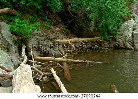 Wood river in Shenandoah national park, VA, USA - stock photo