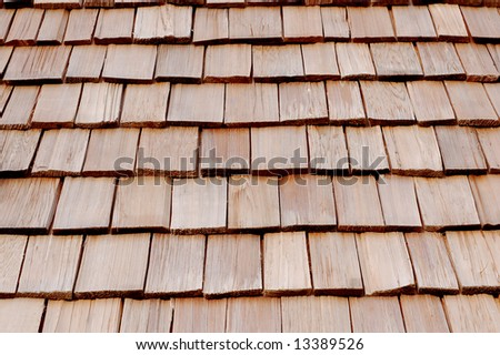wood roof as a background