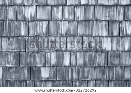Wood roofing pattern detail - stock photo