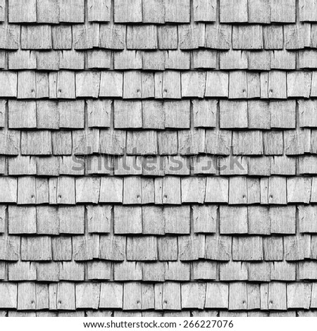 Wood roofing pattern detail, texture - stock photo