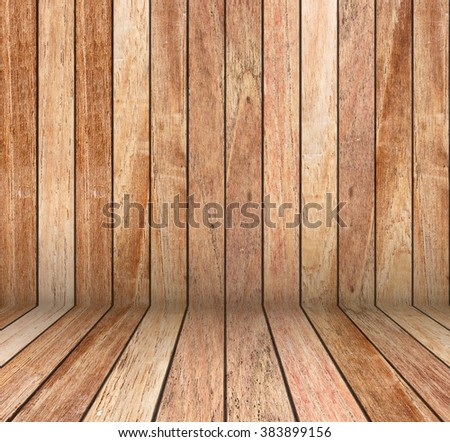 Wood room for background.Copy Space