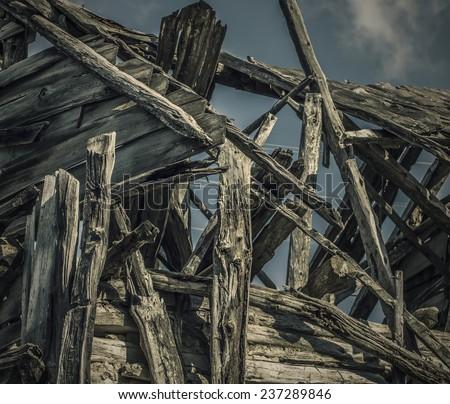 Wood Ruins - stock photo