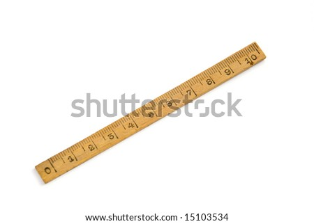 wood ruler isolated