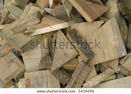 Wood Scraps from Construction Site - stock photo