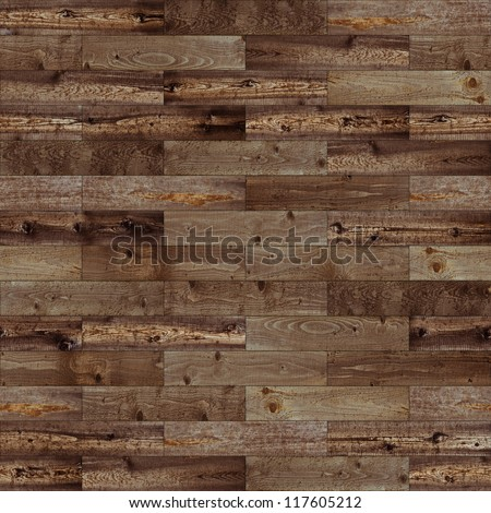 Wood seamless brown parquet texture - stock photo