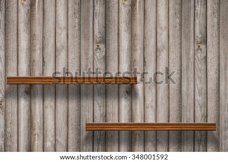 Wood shelf on wood background