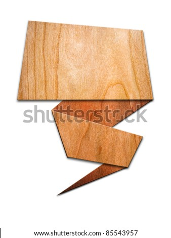 Wood signs for the letter on white background with shadow