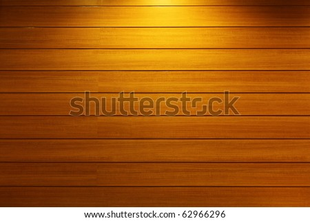 Wood Strip Wall With Light Spot - stock photo