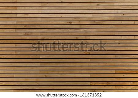 Wood stripes facade building decor - stock photo