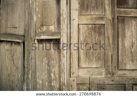 wood texture. background old wooden house - stock photo