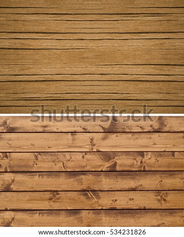Wood texture. Lining boards wall. Wooden background. pattern. Showing growth rings. set