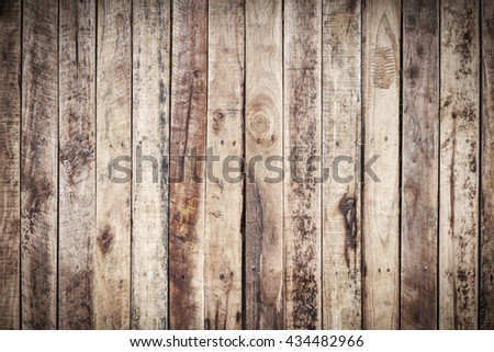 Wood texture pattern and background for interior or exterior design with copy space for text or image. Dark edged.