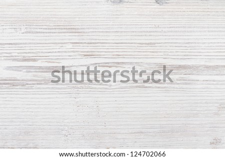 Wood Texture, White Wooden Background, Grey Plank Striped Timber Desk Close Up - stock photo