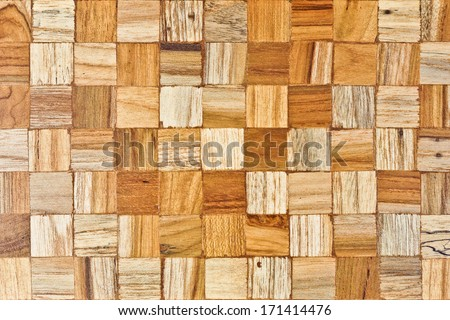 wood texture with checked patterns - stock photo