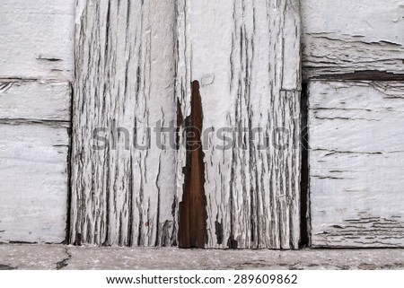wood texture with white paint  - stock photo