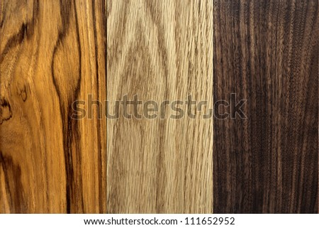 Wood Textures, TEAK, OAK, WALNUT - stock photo