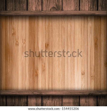 Wood wall and plank background or texture  - stock photo