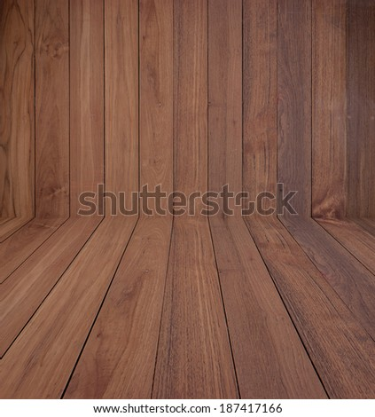 Wood wall background perspective - stock photo