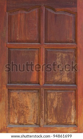 Wood windows Thailand Style. Closeup Useful as background for design-works.