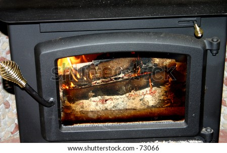 Woodburning Stove - stock photo