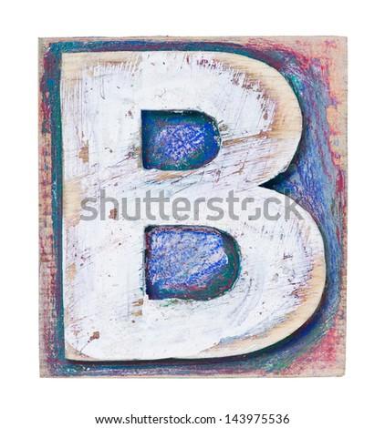 Wooden Alphabet Block Letter B Stock Shutterstock