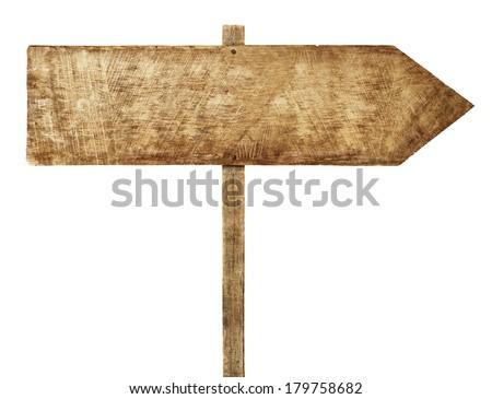 Wooden Arrow Sign - stock photo