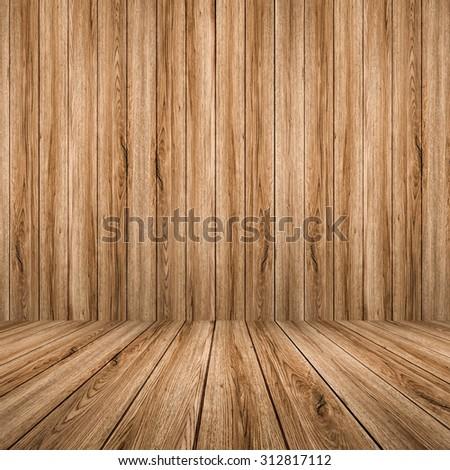 wooden backdrop - stock photo
